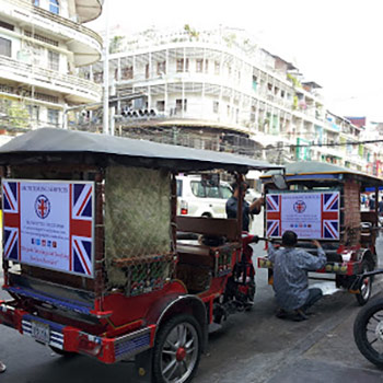 UK Tutoring Services Staff Tuk Tuks